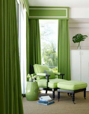 สีผ้าม่านเขียวใบไม้