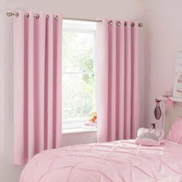 สีผ้าม่านสีชมพู