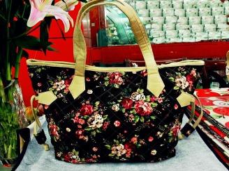 ผ้าทำม่าน เอทีเอ็ม เดคอร์ ตัดเย็บทำกระเป๋าสวย ลายดอกไม้ วินเทจ