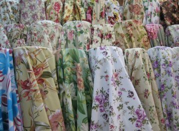 ผ้าแคนวาส ลายวินเทจ ดอกไม้ สำหรับตัดเย็บผ้าม่าน ผ้าหุ้มเบาะ ผ้าบุโซฟา ผ้าหมอนอิง ผ้าม่านลายวินเทจ เนื้อฝ้าย Cotton 100% เนื้อหนา