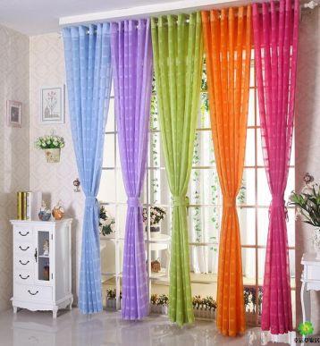 ผ้าม่าน สีสด