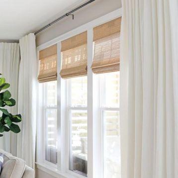 ผ้าม่านสีอ่อน ช่วยให้บ้านดูปลอดโปร่ง สบายตา