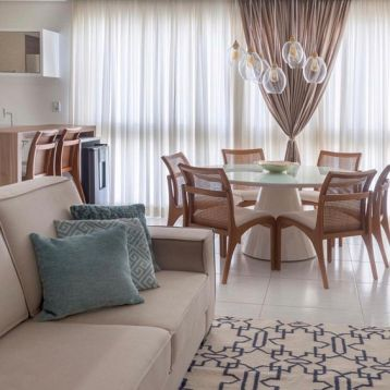 ผ้าม่านโปร่งแสง Interior Design สไตล์โมเดิร์น ลายพื้น สีขาว Off White