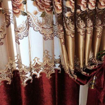 ผ้าม่านโปร่งลายปักและลายฉลุ สวยอลังการ เหมาะกับการตกแต่งแนวหรูหรา