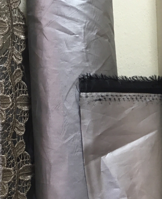 Silver Lining Blackout Curtains (Little India Bangkok Fabric/Textile Market)