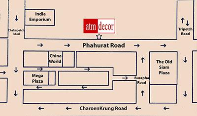 Indian Town Curtains Shop Bangkok Map: Fabric Plus Co Ltd curtains shop is located in Indian Town right next to Phahurat Road