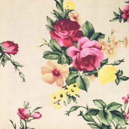 ผ้าวินเทจ ลายดอกไม้