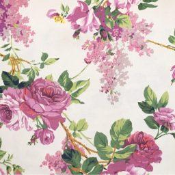 ผ้าวินเทจ ลายดอกไม้ พาหุรัด