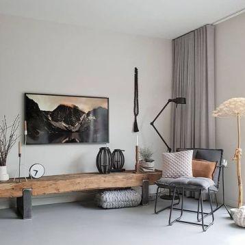 ผ้าม่านสีเทา เหมาะกับการตกแต่ง Stylish Modern เข้ากับผนังห้องหลายสี