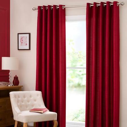 ผ้าม่านสีแดง สวย
