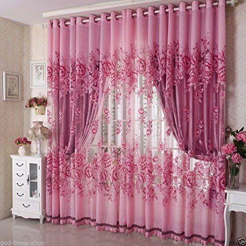 ผ้าโปร่งลายปัก สีชมพู