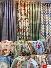 """Curtains Shop in Phahurat, the """"Little India"""" of Bangkok"""