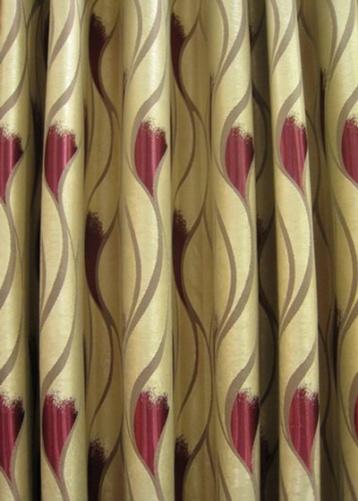 Bangkok curtain fabrics wave design