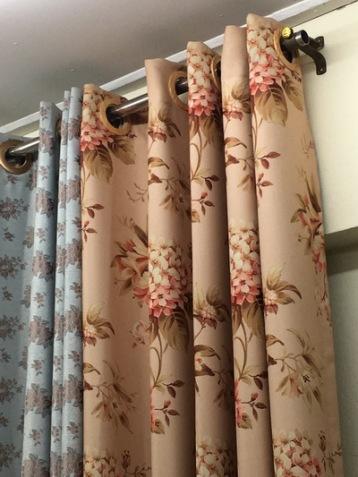 curtain floral light orange designs bangkok