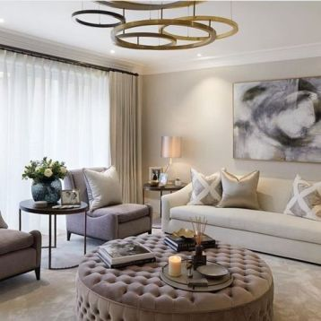 Curtains in modern living room