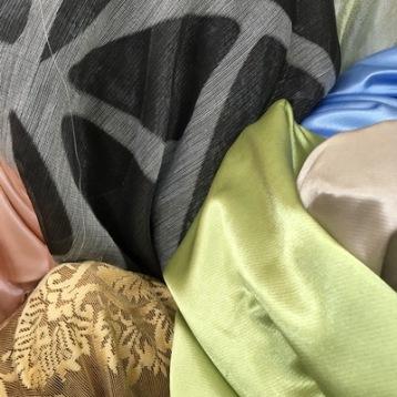 ผ้าม่านซาติน สวย เงา สีเขียว