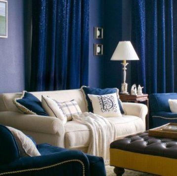 ตกแต่งผ้าม่านสวย สีฟ้า น้ำเงิน สวยงาม เสน่ห์ธรรมชาติ