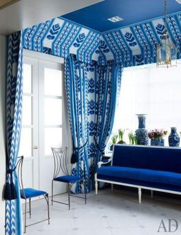 ผ้าม่านสีฟ้า น้ำเงิน ตกแต่งผ้าม่านสวยงาม เสน่ห์ธรรมชาติ