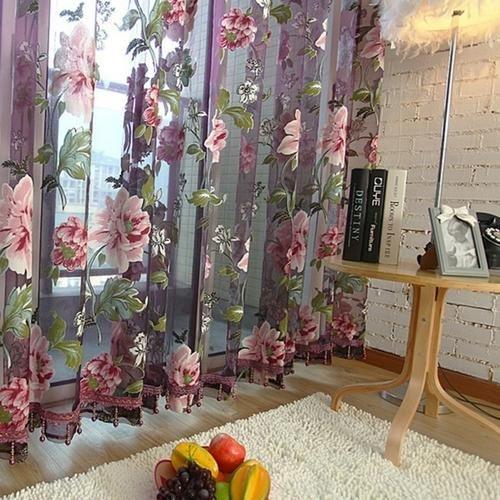 ผ้าโปร่งลายปัก ดอกไม้ หวาน