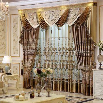ผ้าโปร่งลายปัก แต่งห้องสวย