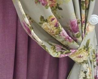 สายรัดม่าน ทำจากผ้าม่าน เขียว