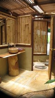 ห้องน้ำ ไม้ไผ่ ทรอปิคอล