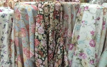 floral curtains bangkok vintage
