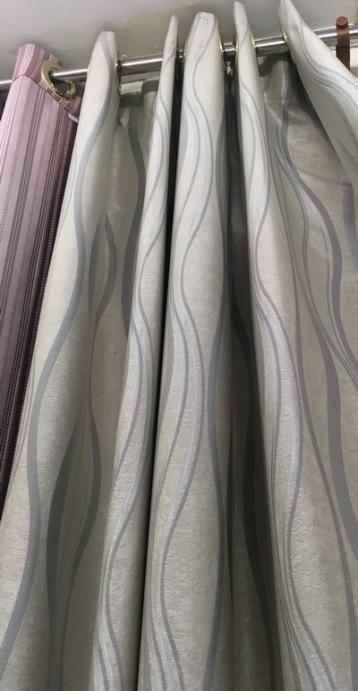 gray wavy curtains