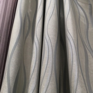 gray wavy curtains