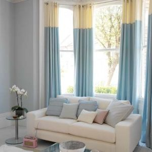 curtains two tone