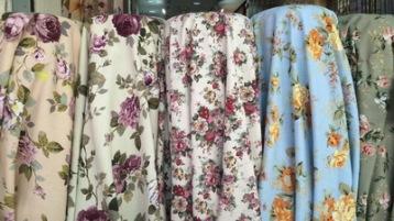 ผ้าทำม่าน ลายดอกไม้ วินเทจ ตัวอย่างผ้าม่านสวยๆ