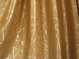 ผ้าม่านสีทอง สดใส สว่างตา