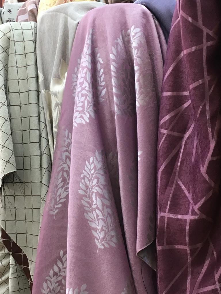 ผ้าม่านกันUV ลายใบไม้ สวยสองหน้า หน้ากว้าง 2.80 เมตร สำหรับเย็บผ้าม่านแบบไร้รอยต่อ