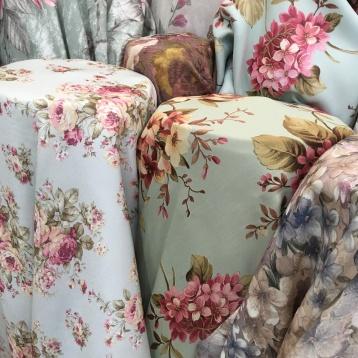 ผ้าม่านกันUV ลายดอกไม้ ร้านผ้าม่านพาหุรัด บริษัท แฟบริค พลัส