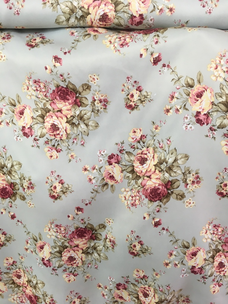 ผ้าม่านกันUV แนววินเทจ สีสวยสดใส ลายดอกไม้