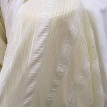 ผ้าม่านโปร่งสวยๆ ลายทางสีทอง