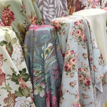 ผ้าม่านสวยๆ ลายดอกไม้ แนววินเทจ ร้านขายผ้าม่าน ATM Decor