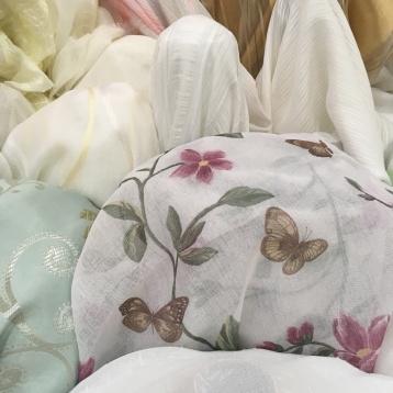 ผ้าม่านโปร่ง ลายผีเสื้อ สวย น่ารัก