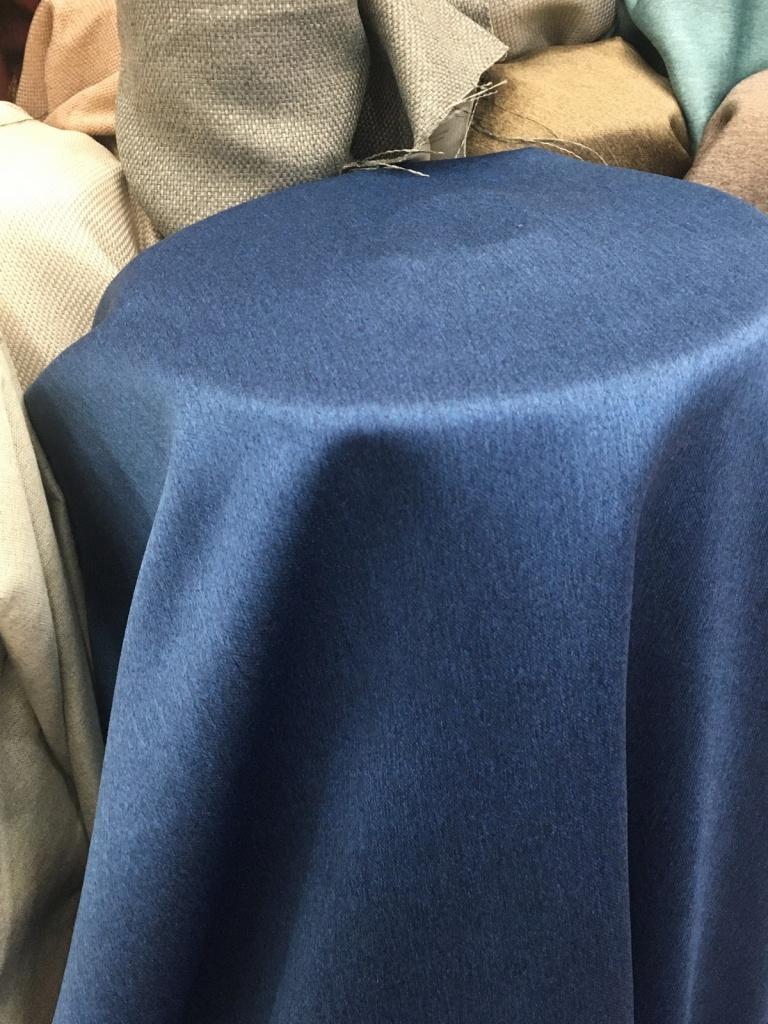 ผ้าหุ้มเบาะซาติน เนื้อหนาพิเศษ หน้ากว้างพิเศษ สีน้ำเงิน Rich Blue