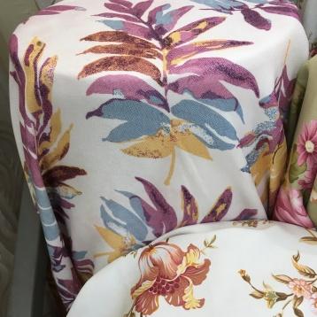 ผ้าหุ้มเบาะลาย Tropical มีหลายสีให้เลือก