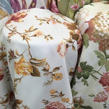 ผ้าหุ้มเบาะเนื้อหนานุ่ม ลายดอกไม้ แนววินเทจ สว่างสดใส