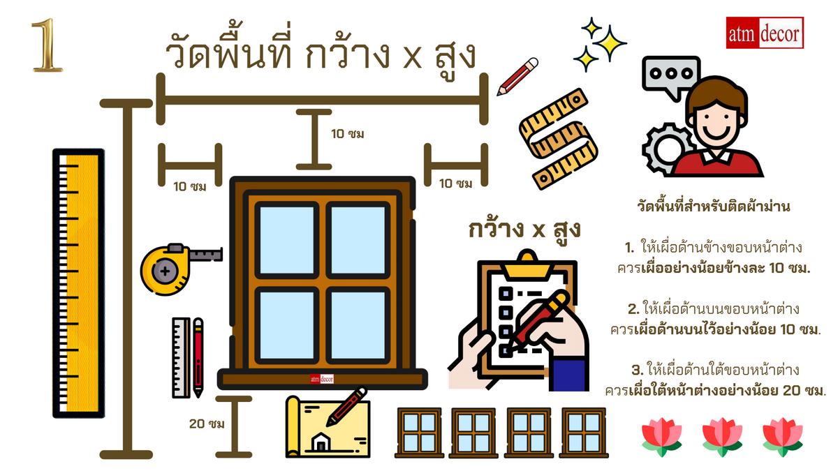 สั่งตัดเย็บผ้าม่าน ร้านผ้าม่าน ATM Decor 1