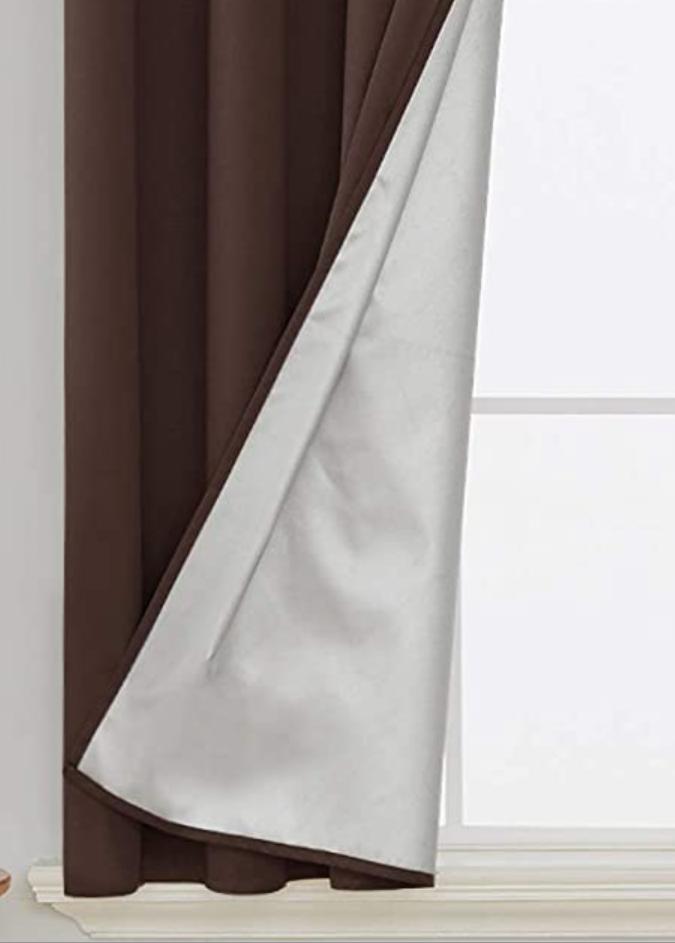 ผ้าฉาบปรอท กันแสง 100% กันความร้อน และรังสี UV 100% ไว้ซับข้างหลังผ้าม่าน ห้องมืดสนิท อากาศเย็นสบาย